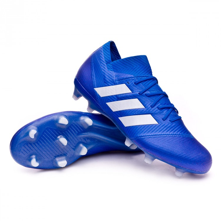 20ddecdf8805 Football Boots adidas Nemeziz 18.1 FG Football blue-White - Football ...