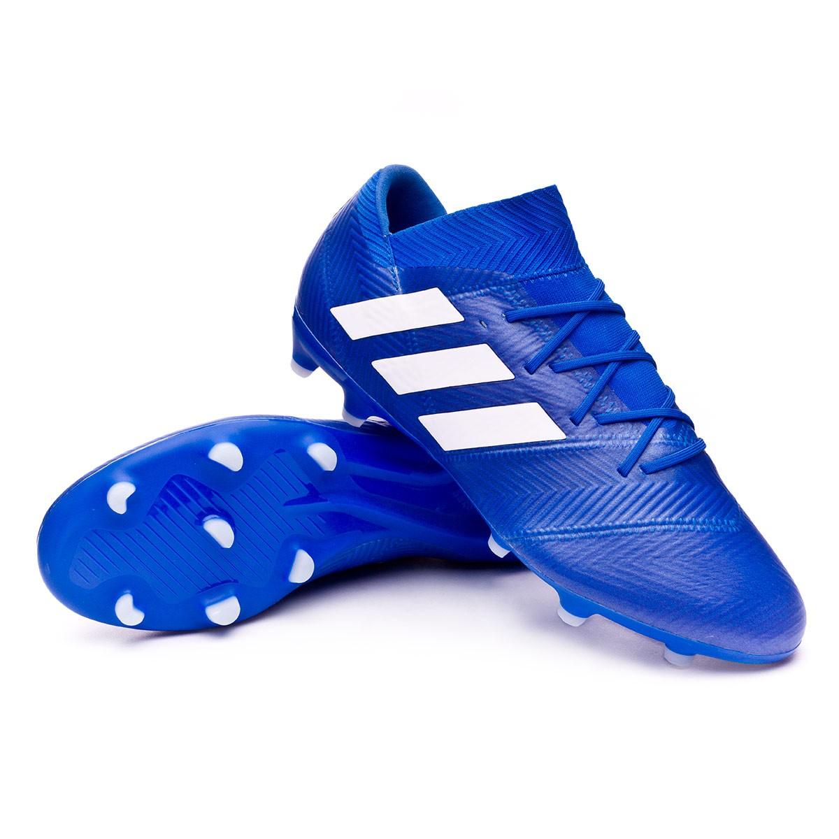 52e5899a4622 Football Boots adidas Nemeziz 18.2 FG Football blue-White - Football store  Fútbol Emotion