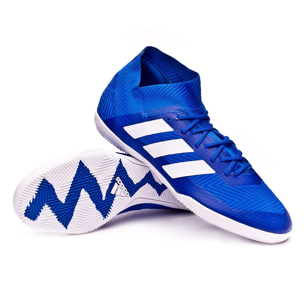 origen metodología Soplar  Futsal Boot adidas Nemeziz Tango 18.3 IN Football blue-White-Football blue  - Football store Fútbol Emotion