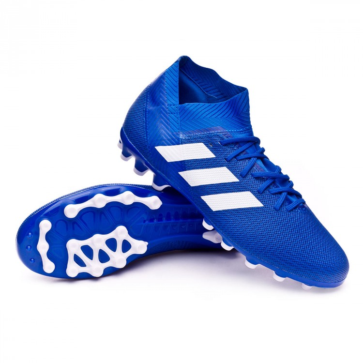 best service 7ac99 33f39 bota-adidas-nemeziz-18.3-ag-football-blue-white-
