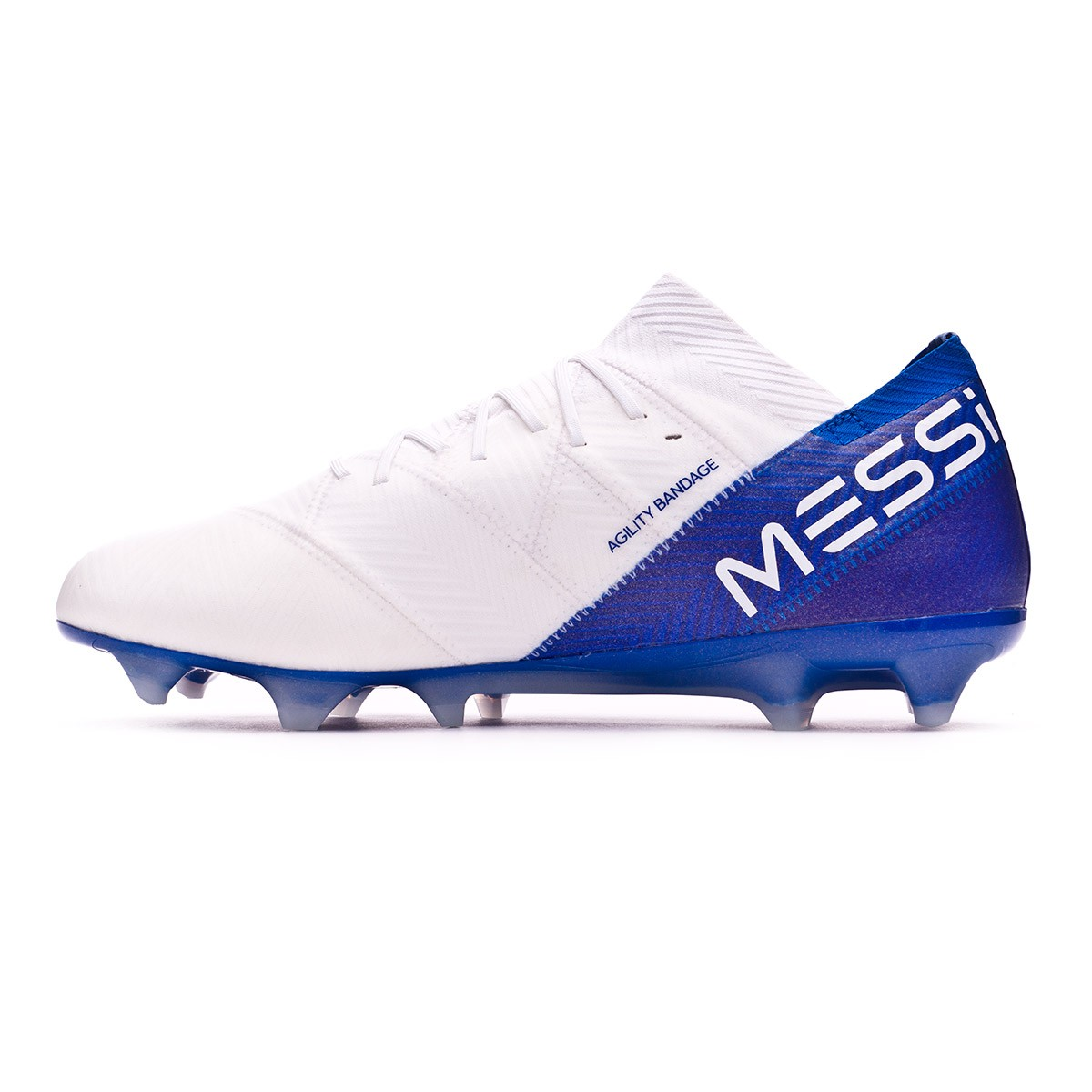 41ce1ac1d2b5 Football Boots adidas Nemeziz Messi 18.1 FG White-Core black-Football blue  - Football store Fútbol Emotion