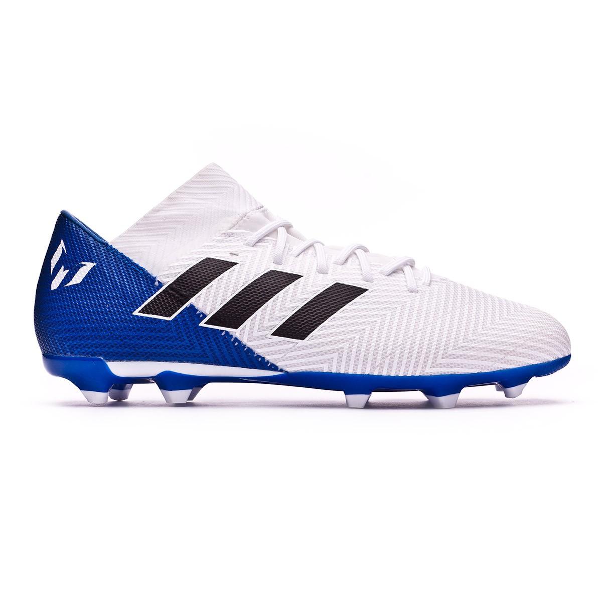 66cec18c98f4 Boot adidas Nemeziz Messi 18.3 FG White-Core black-Football blue - Leaked  soccer