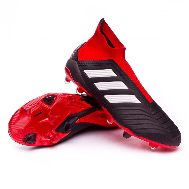 Bota Predator 18+ FG Core black-White-Red
