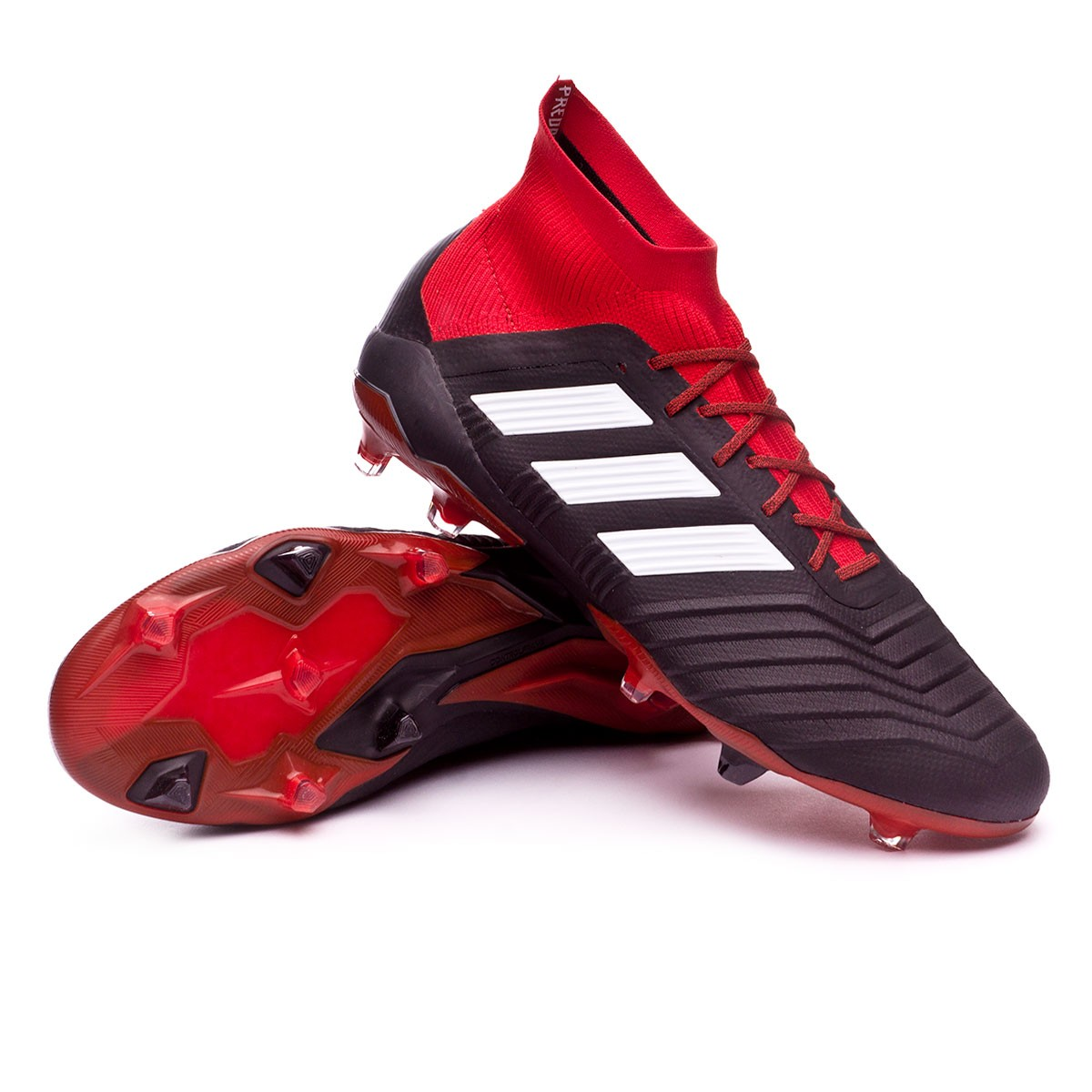size 40 8b848 5175d adidas Predator 18.1 FG Football Boots. Core black-White-Red ...