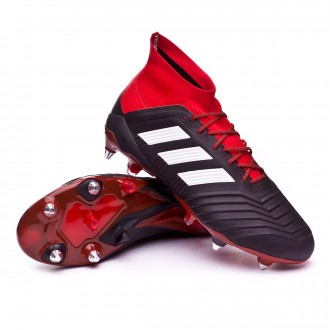 Chuteira  adidas Predator 18.1 SG Core black-White-Red