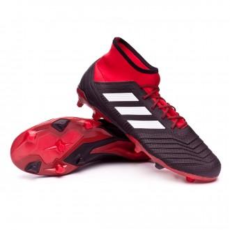 Boot  adidas Predator 18.2 FG Core black-White-Red