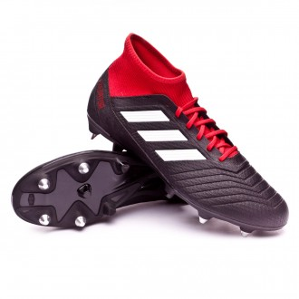 Chuteira  adidas Predator 18.3 SG Core black-White-Red