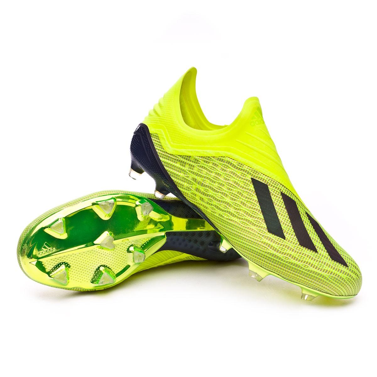 3357f9e4c30cb Bota de fútbol adidas X 18+ FG Solar yellow-Core black-White - Tienda de  fútbol Fútbol Emotion