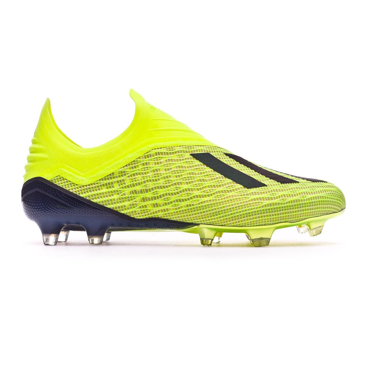 a20df984b3ad Football Boots adidas X 18+ FG Solar yellow-Core black-White - Tienda de  fútbol Fútbol Emotion