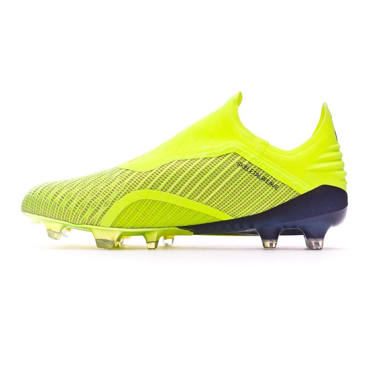 e90a01e31 Football Boots adidas X 18+ FG Solar yellow-Core black-White - Tienda de  fútbol Fútbol Emotion