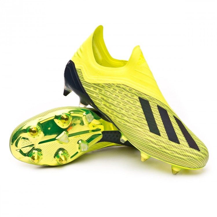 detailed look 58c98 4756e bota-adidas-x-18-sg-solar-yellow-core-