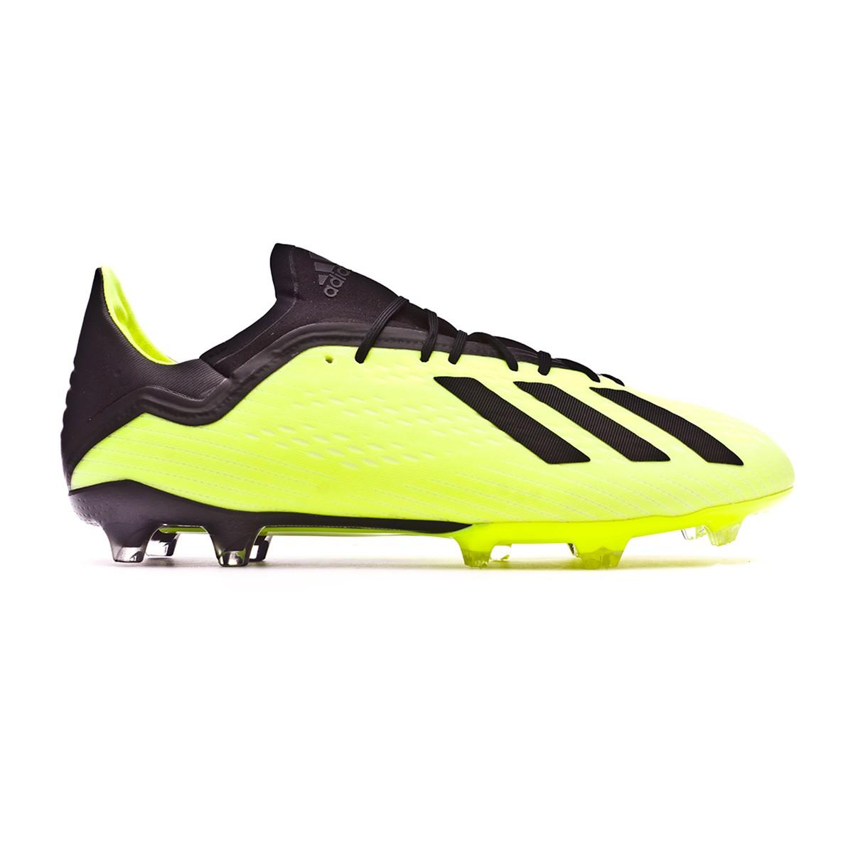 dcd1430ccd37 Football Boots adidas X 18.2 FG Solar yellow-Core black-White ...