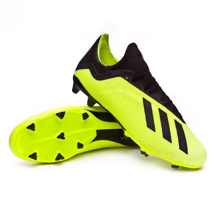 3d18b1ada83 Football Boots adidas X 18.3 FG Solar yellow-Core black-White ...