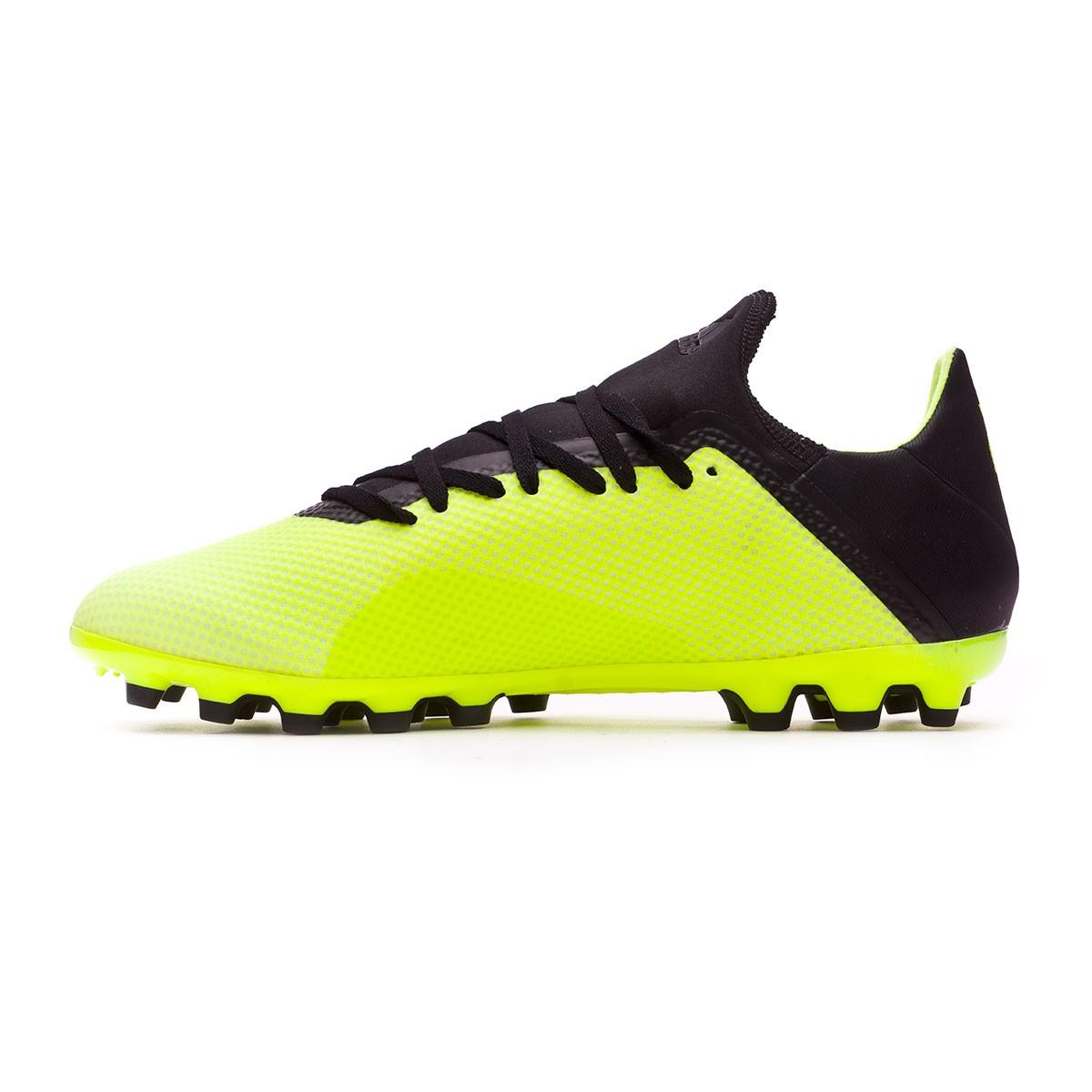 Fútbol X 18 Adidas De Yellow Core 3 Ag White Black Solar Zapatos CBoEQdeWrx