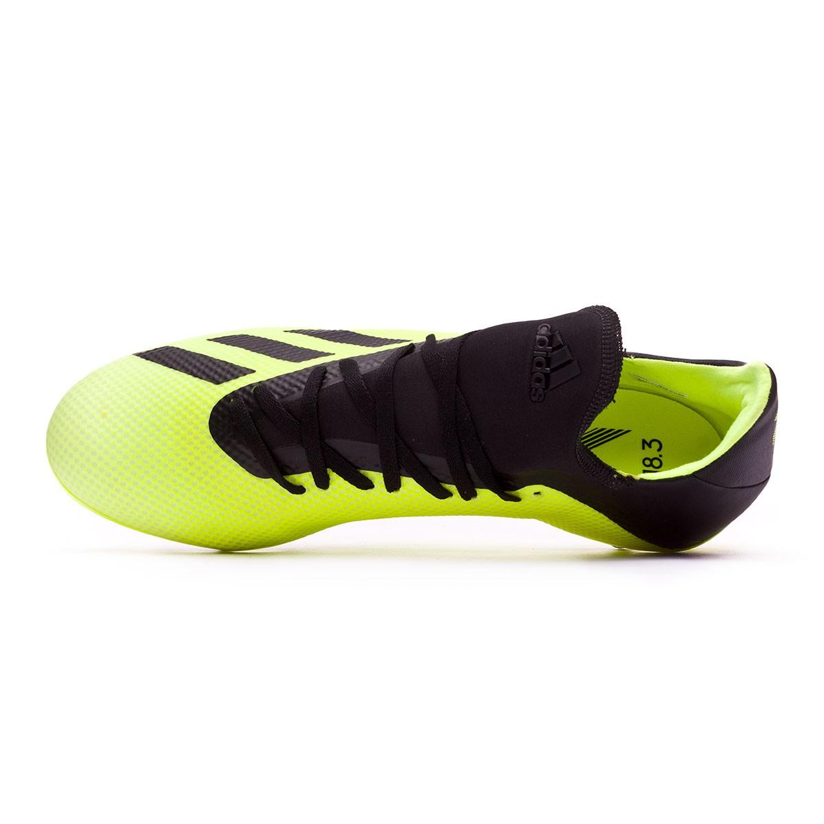 new style b58b3 d3bc2 Zapatos de fútbol adidas X 18.3 AG Solar yellow-Core black-White - Tienda  de fútbol Fútbol Emotion