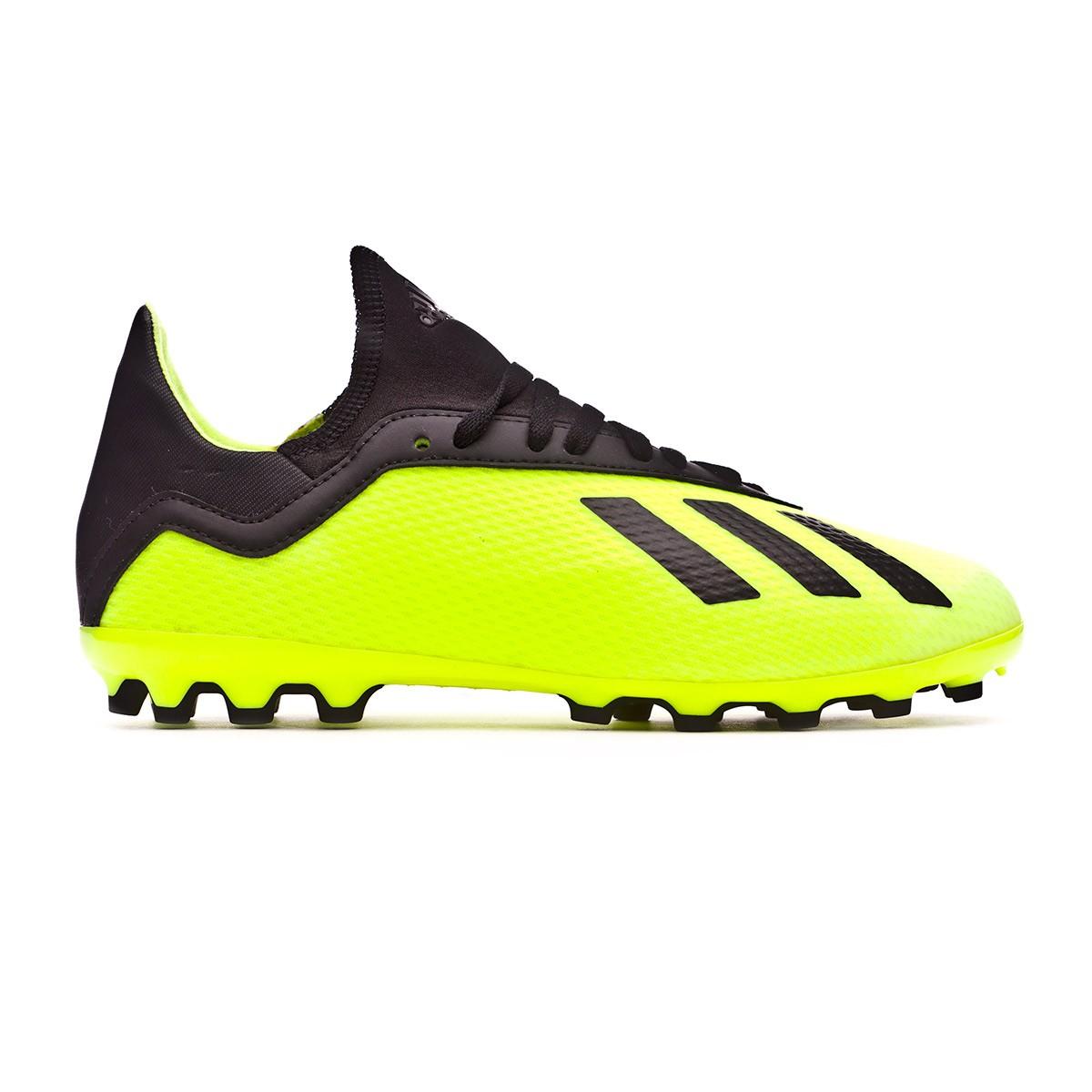 3a190f721f1 Zapatos de fútbol adidas X 18.3 AG Niño Solar yellow-Core black-Solar  yellow - Tienda de fútbol Fútbol Emotion