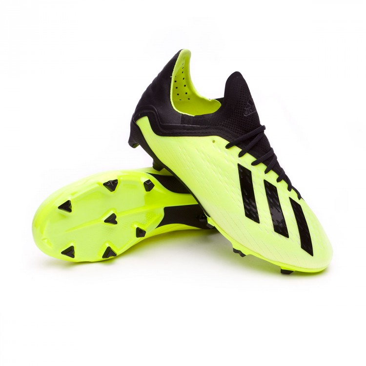 Boot adidas Kids X 18.1 FG Solar yellow-Core black-White - Leaked soccer 025b7d71df6b3