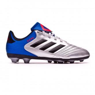 Bota  adidas Copa 18.4 FxG Niño Silver metallic-Core black-Football blue