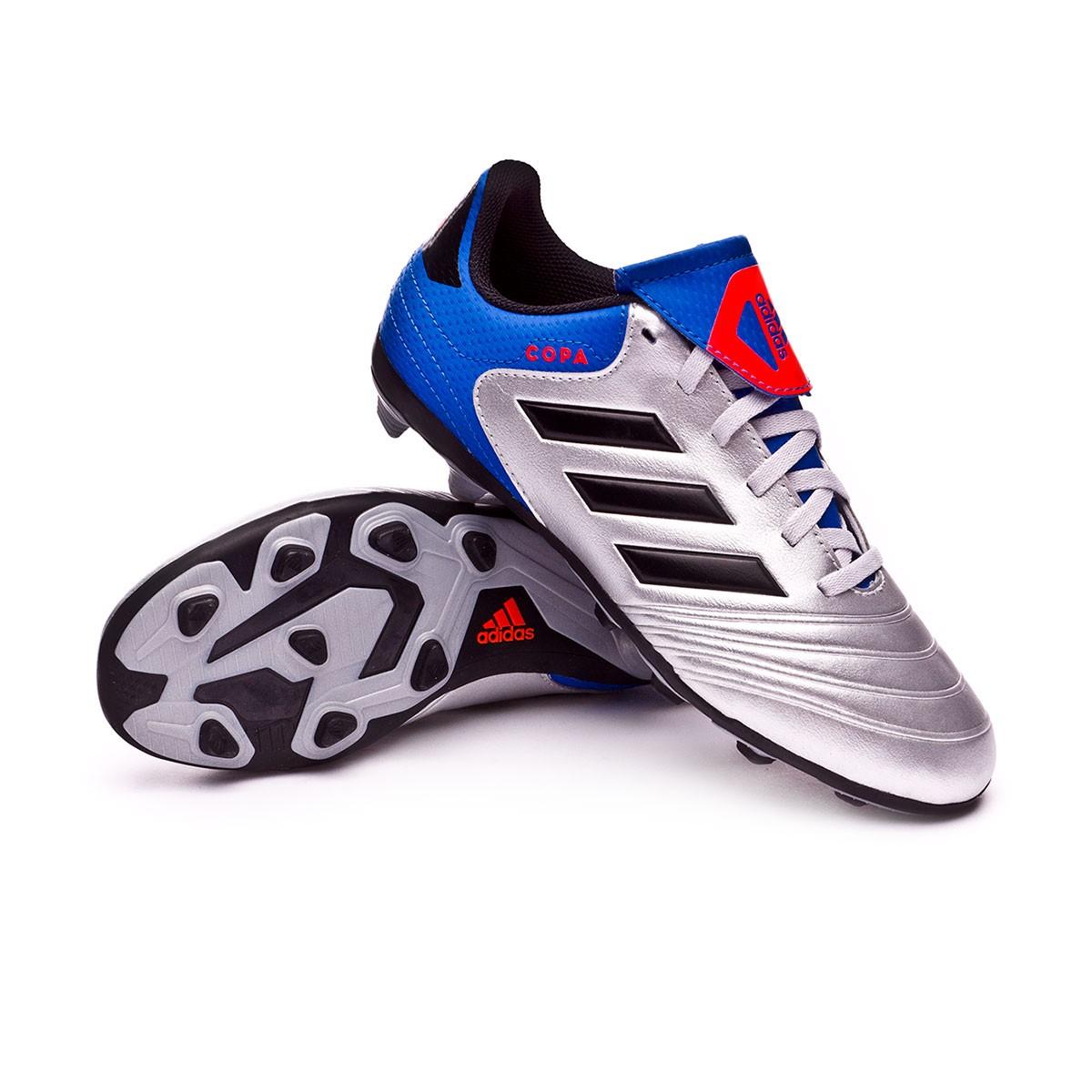 9e943f8e4a5b7 adidas Kids Copa 18.4 FxG Boot. Silver metallic-Core black-Football ...