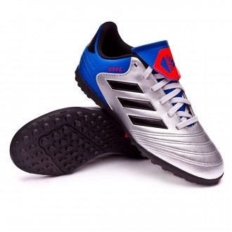 Football Boot  adidas Kids Copa Tango 18.4 Turf  Silver metallic-Core black-Football blue