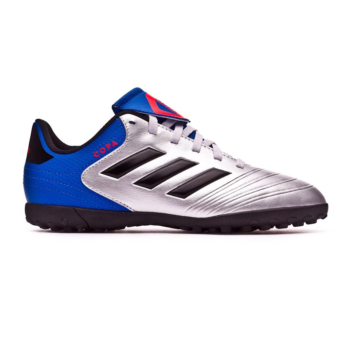 cff890985196 Football Boot adidas Kids Copa Tango 18.4 Turf Silver metallic-Core black- Football blue - Football store Fútbol Emotion