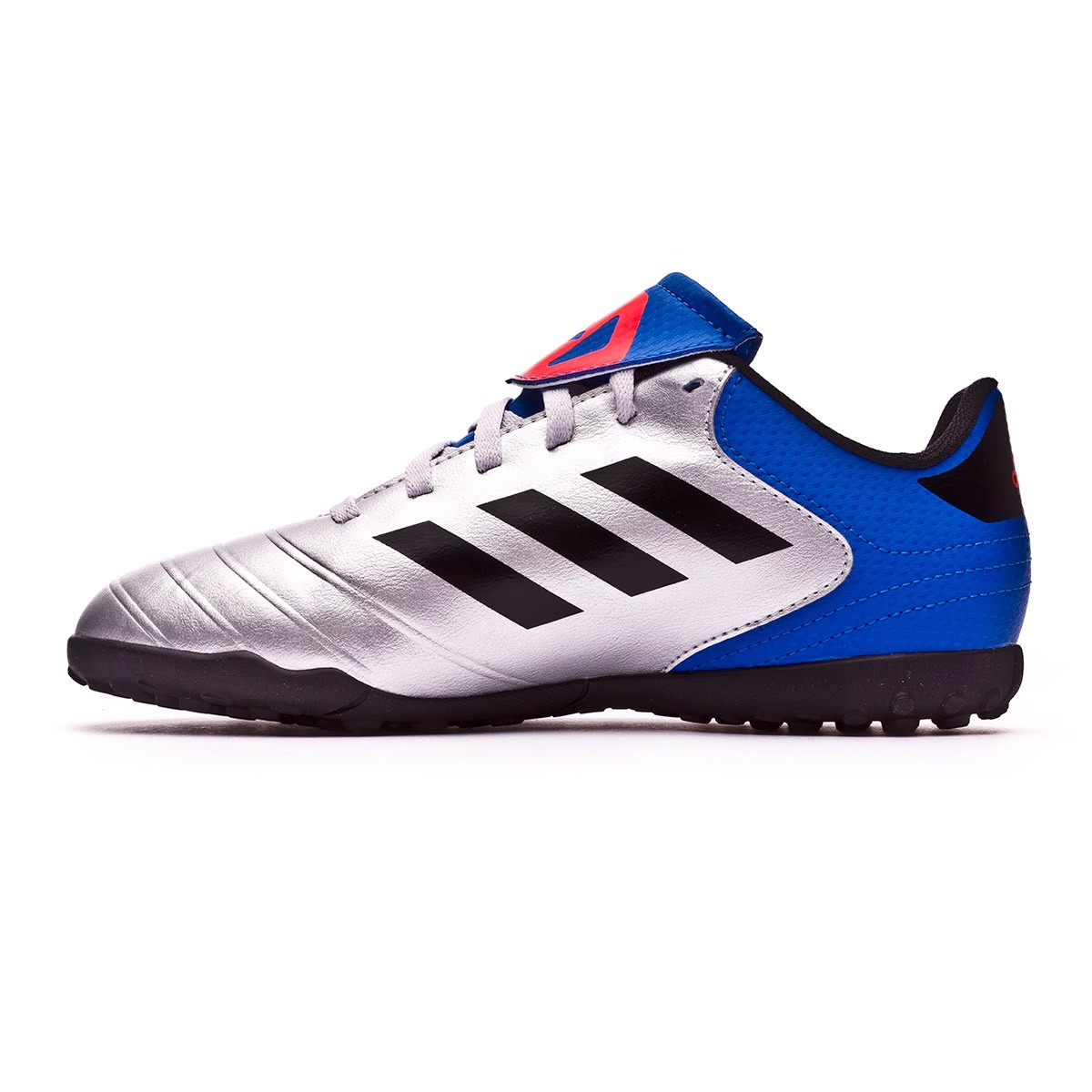 buy online 53db4 38360 Football Boot adidas Kids Copa Tango 18.4 Turf Silver metallic-Core black-Football  blue - Football store Fútbol Emotion