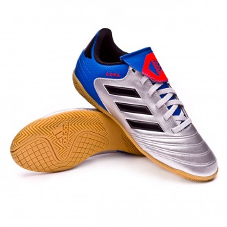 Zapatilla  adidas Copa Tango 18.4 IN Niño Silver metallic-Core black-Football blue
