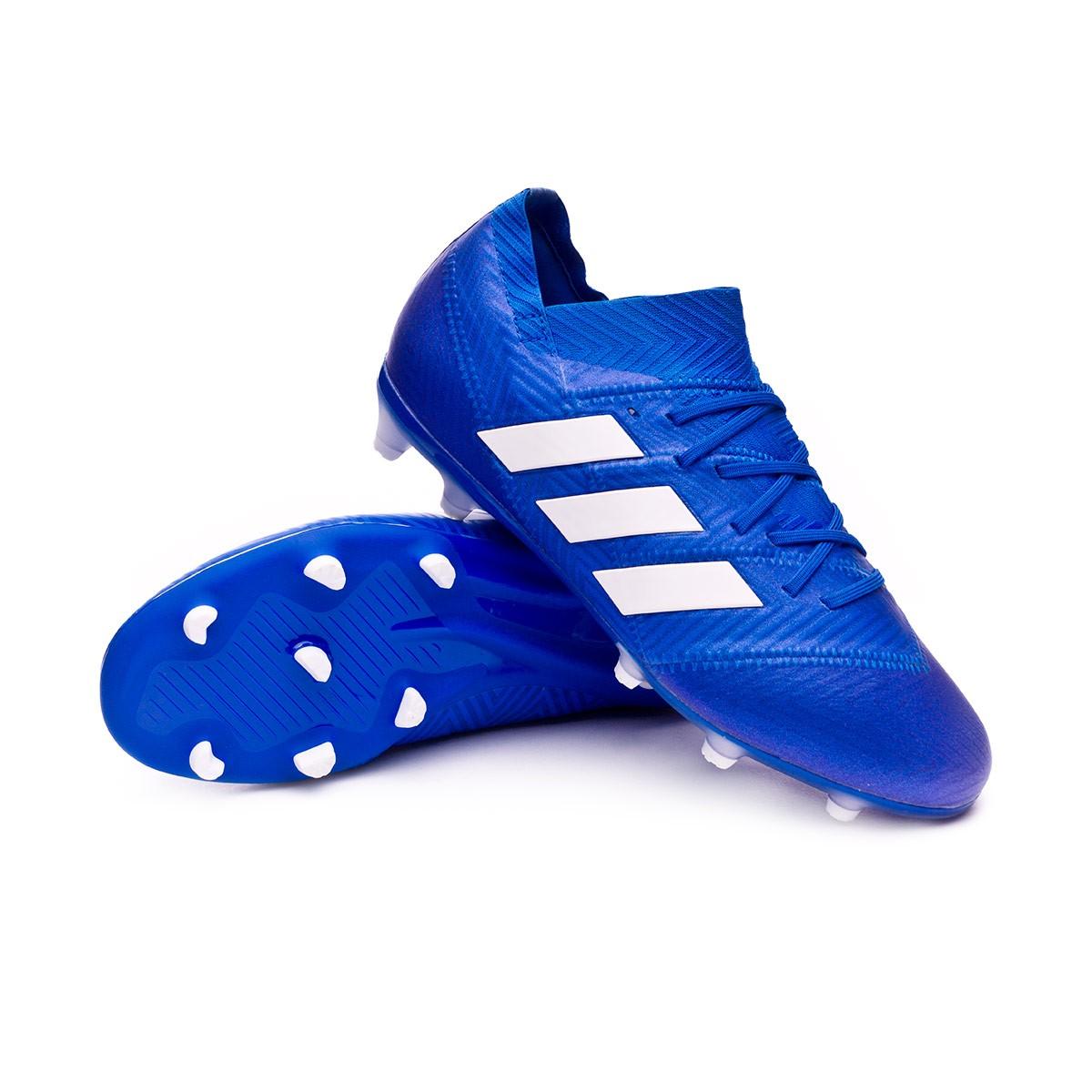 85dcab121 adidas Kids Nemeziz 18.1 FG Football Boots. Football blue-White-Football ...