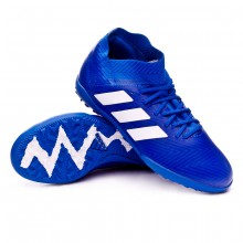 Zapatilla Nemeziz Tango 18.3 Turf Niño Football blue-White-Football blue