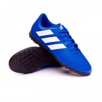 Chaussure de football  adidas Nemeziz Tango 18.4 Turf enfant Football blue-White-Football blue