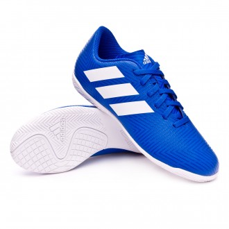 Chaussure de futsal  adidas Nemeziz Tango 18.4 IN enfant Football blue-White-Football blue
