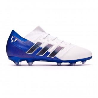 Football Boots  adidas Kids Nemeziz Messi 18.1 FG White-Core black-Football blue