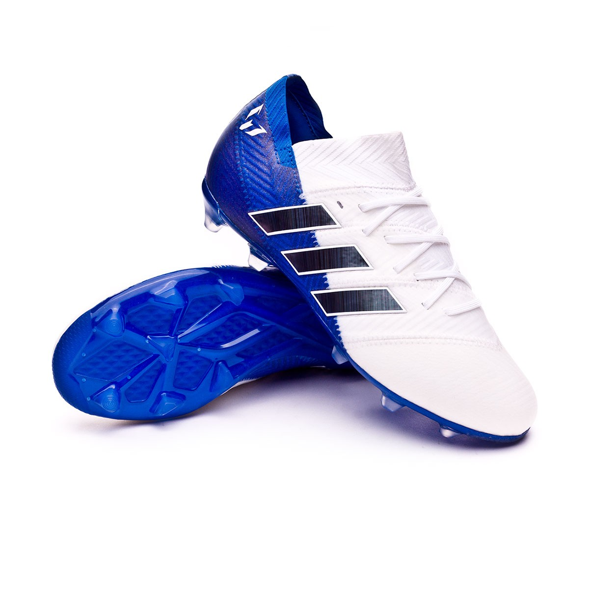 057ae5133 Football Boots adidas Kids Nemeziz Messi 18.1 FG White-Core black-Football  blue - Football store Fútbol Emotion