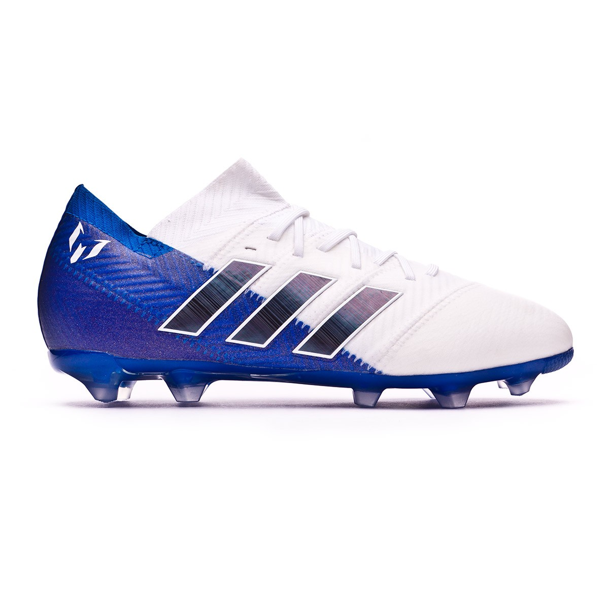 c97f2387a8c18 Zapatos de fútbol adidas Nemeziz Messi 18.1 FG Niño White-Core  black-Football blue - Tienda de fútbol Fútbol Emotion