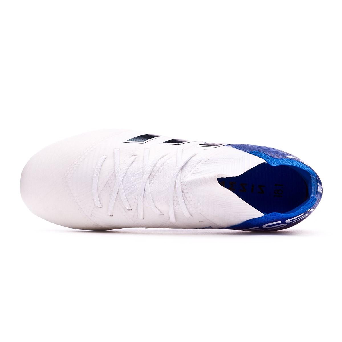 db9aa311ece3 Football Boots adidas Kids Nemeziz Messi 18.1 FG White-Core black-Football  blue - Football store Fútbol Emotion