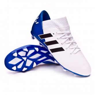 Bota  adidas Nemeziz Messi 18.3 FG White-Core black-Football blue Niño