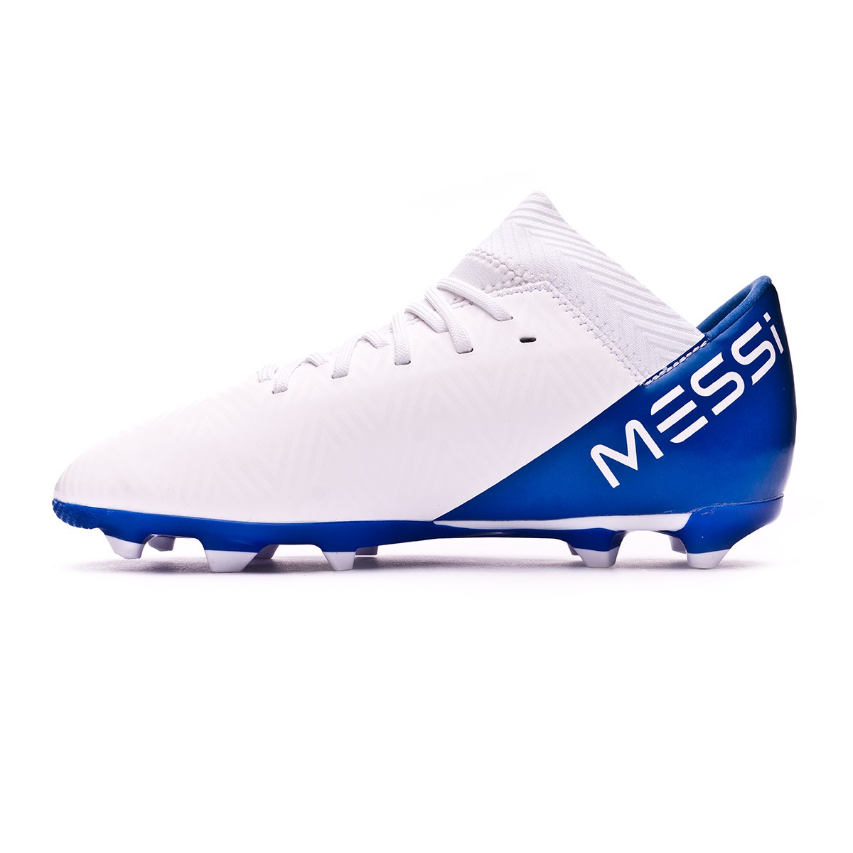5ebabe52f Boot adidas Kids Nemeziz Messi 18.3 FG White-Core black-Football blue Niño  - Football store Fútbol Emotion