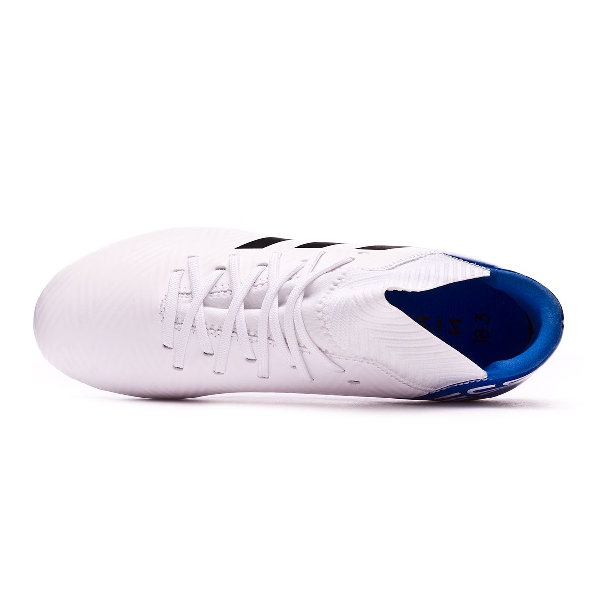 a7c3e22a6 Football Boots adidas Kids Nemeziz Messi 18.3 FG White-Core black-Football  blue Niño - Football store Fútbol Emotion