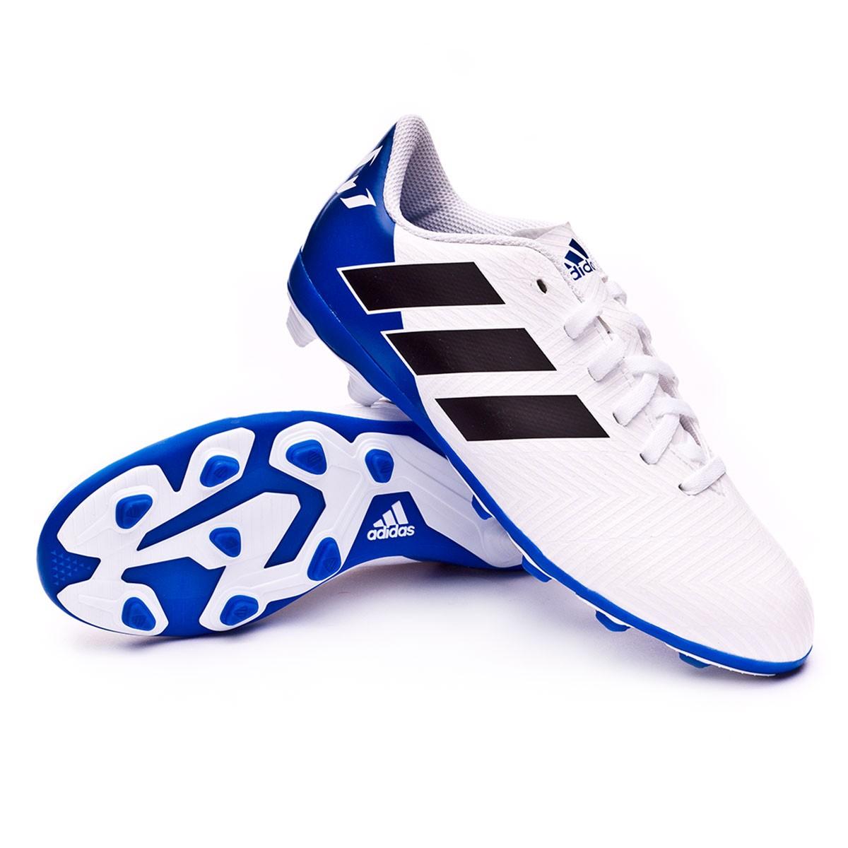 6bde829ad934 Football Boots adidas Nemeziz Messi 18.4 FG White-Core black-Football blue  - Football store Fútbol Emotion