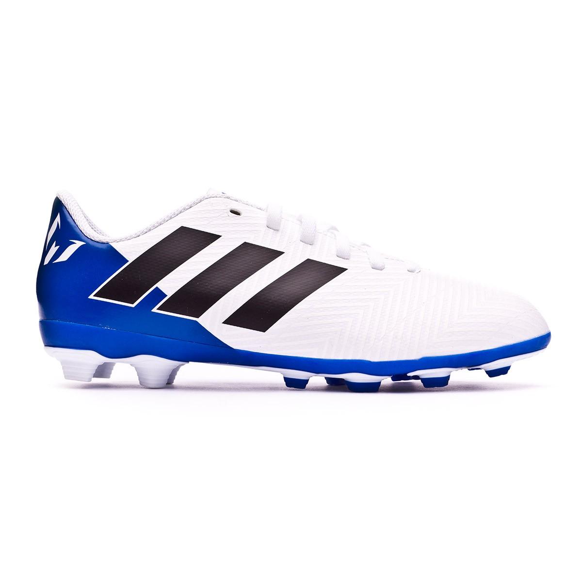 2e343d4b8 Football Boots adidas Nemeziz Messi 18.4 FG White-Core black-Football blue  - Football store Fútbol Emotion