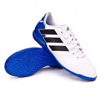 Chaussure de futsal  adidas Nemeziz Messi Tango 18.4 IN enfant White-Core black-Football blue
