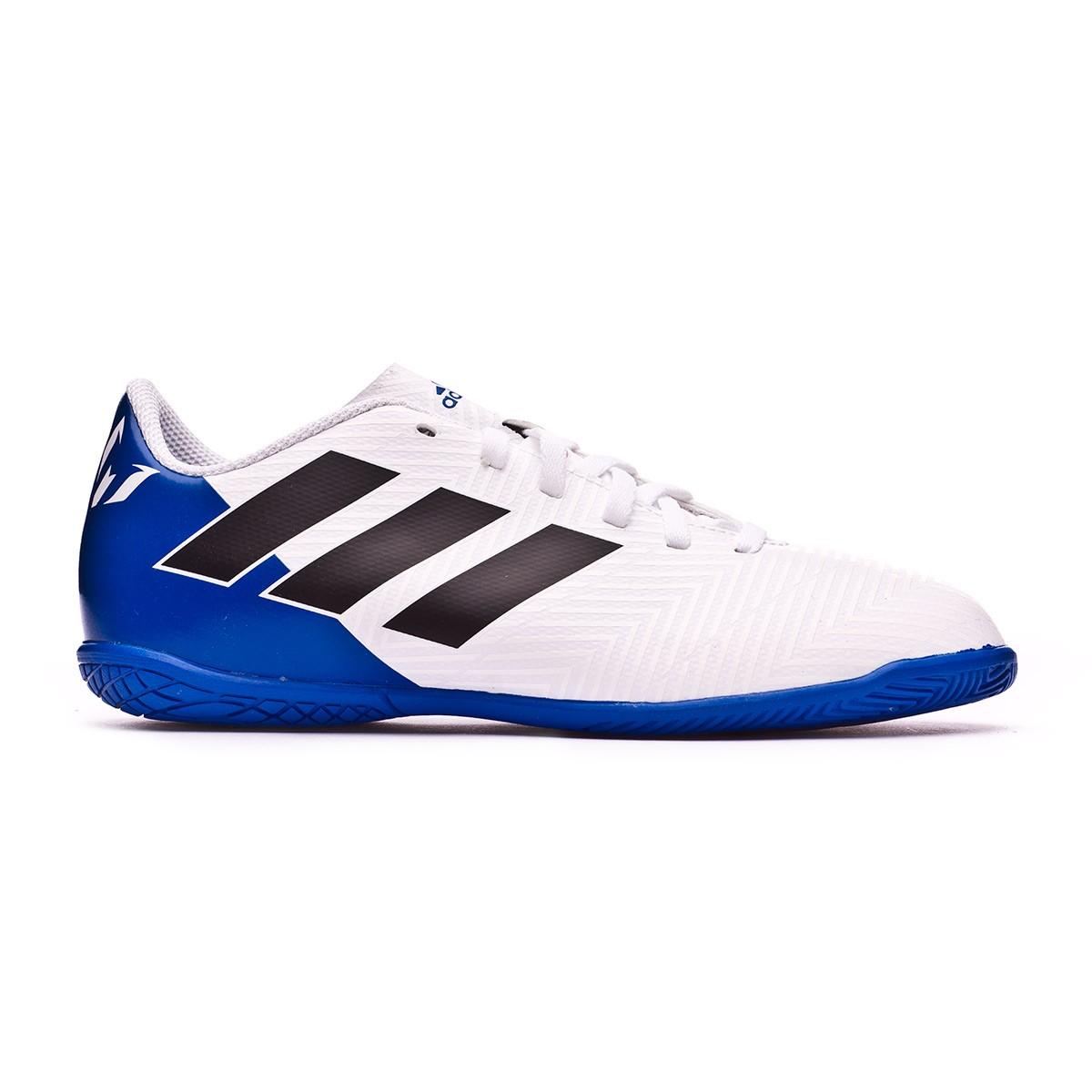 e39349d82785f Futsal Boot adidas Kids Nemeziz Messi Tango 18.4 IN White-Core  black-Football blue - Football store Fútbol Emotion