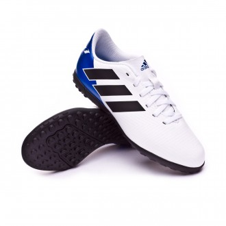 Chaussure de football  adidas Nemeziz Messi Tango 18.4 Turf enfant White-Core black-Football blue