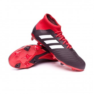 Bota  adidas Predator 18.1 FG Niño Core black-White-Red