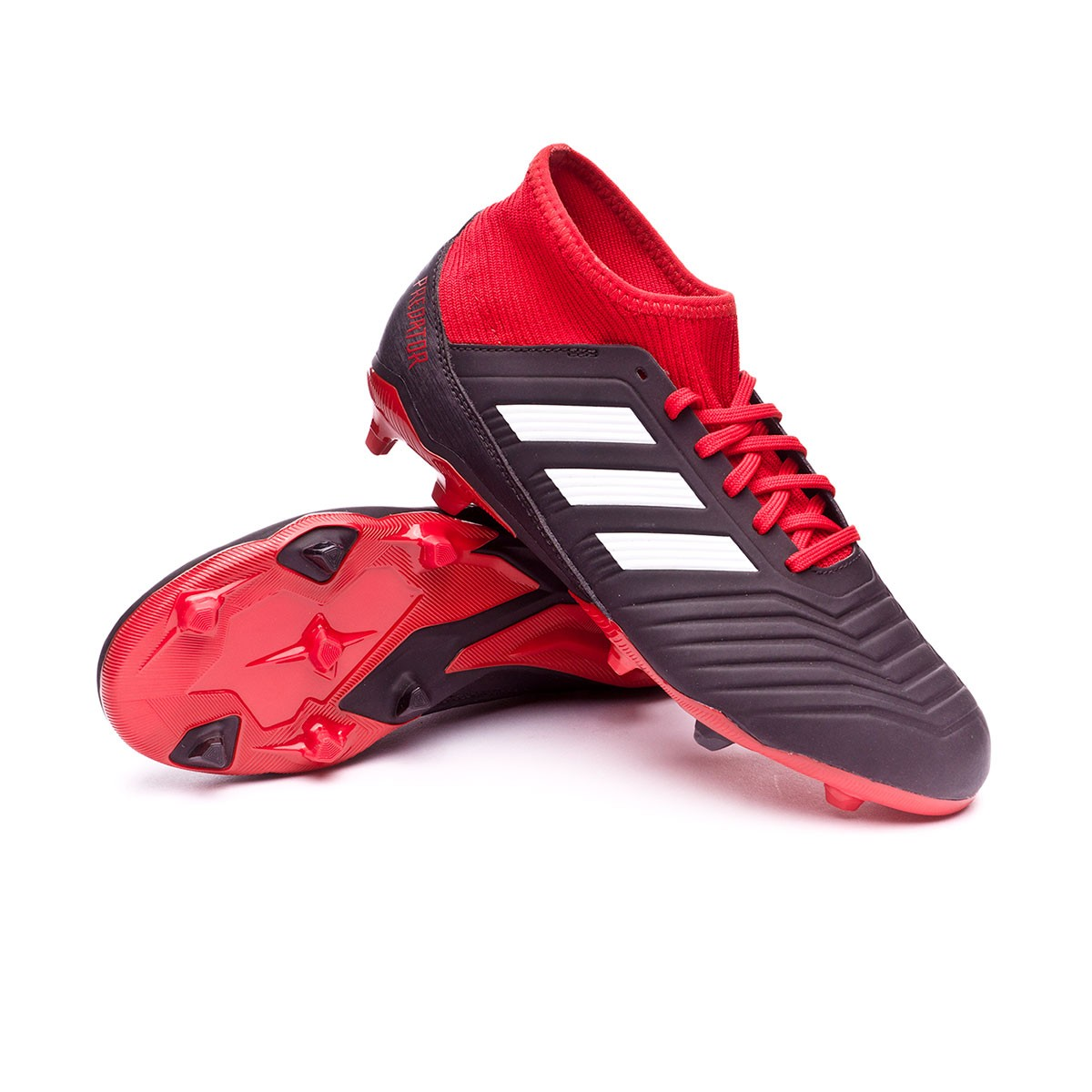 ac15666e9ec2 Football Boots adidas Kids Predator 18.3 FG Core black-White-Red ...