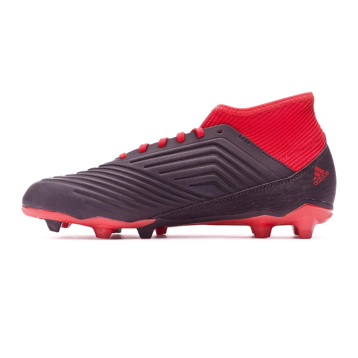 e8e6339f4841 Football Boots adidas Kids Predator 18.3 FG Core black-White-Red - Tienda  de fútbol Fútbol Emotion