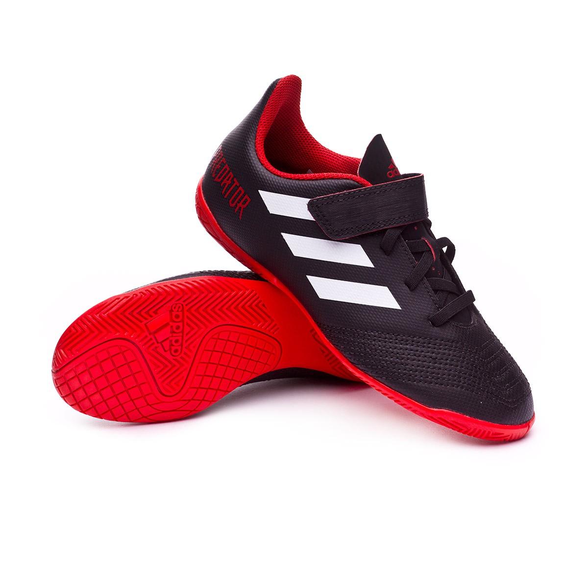 71b04117811 Futsal Boot adidas Kids Predator Tango 18.4 IN Core black-White-Red ...