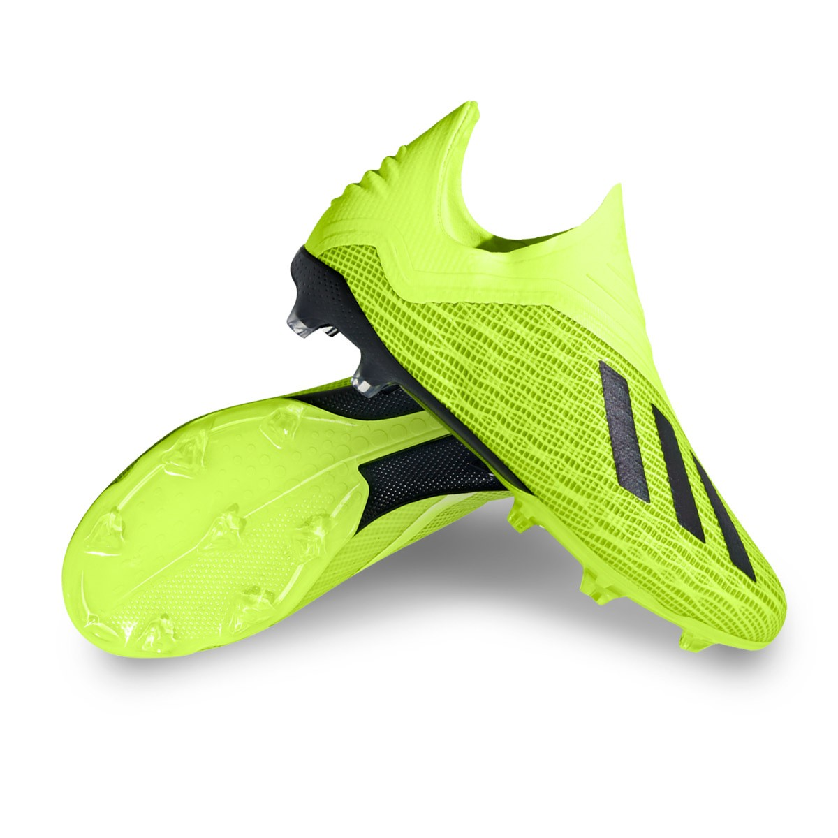 d8f433e52b7f9 Bota de fútbol adidas X 18+ FG Niño Solar yellow-Core black-White - Tienda  de fútbol Fútbol Emotion