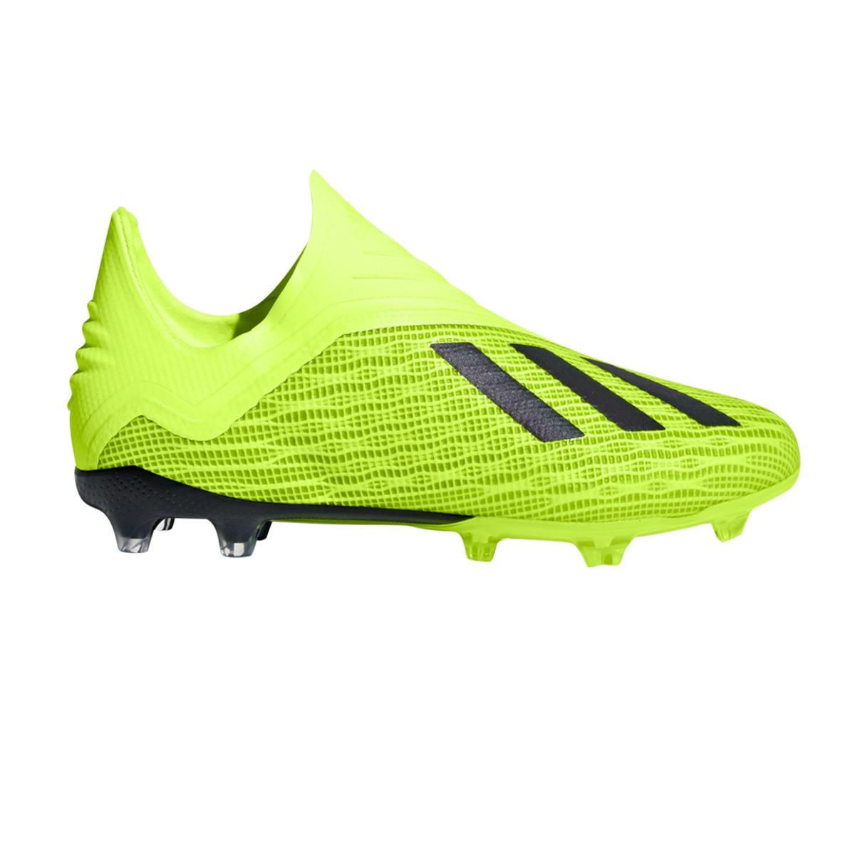 c7b7011c685c Football Boots adidas Kids X 18+ FG Solar yellow-Core black-White -  Football store Fútbol Emotion