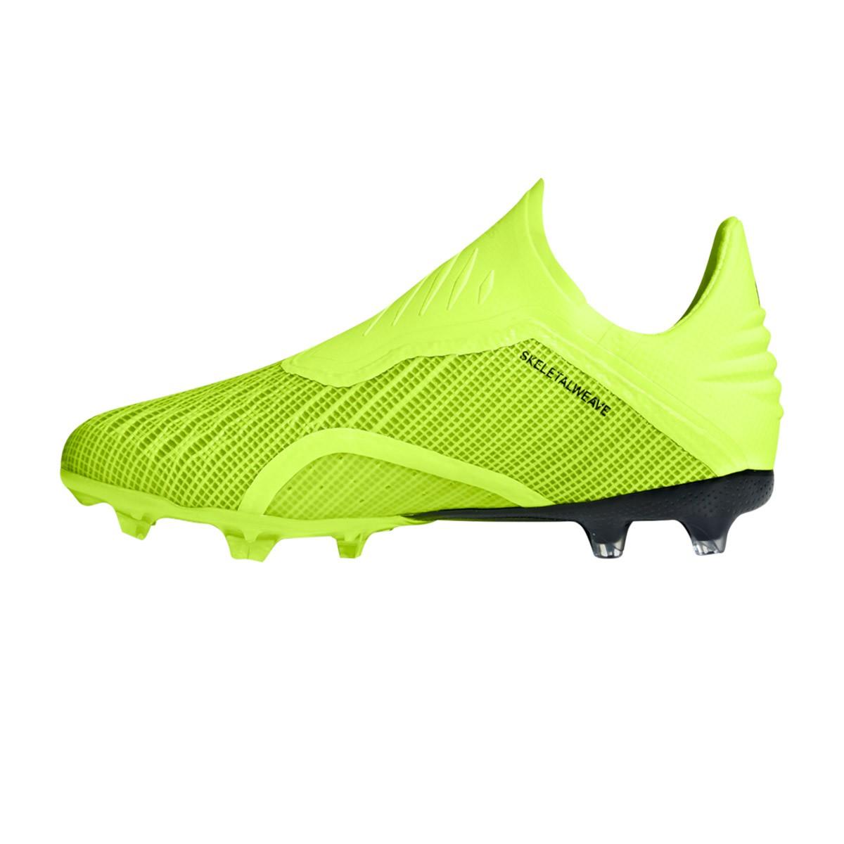 fc1cd1bbe Football Boots adidas Kids X 18+ FG Solar yellow-Core black-White -  Football store Fútbol Emotion